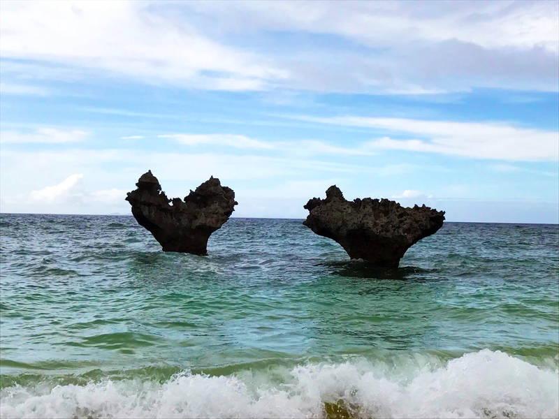 沖縄古宇利島でハートロックとガーリックシュリンプを満喫!